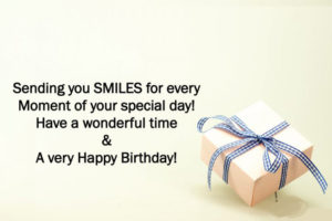Happy Birthday wishes in English